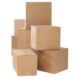 stock shipping cardboard boxes