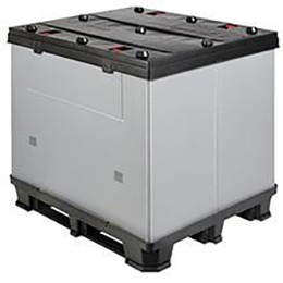 system pack-collapsible plastic container