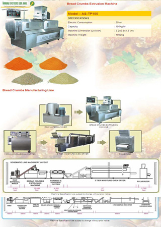 Bread Crumbs Extrusion Machine
