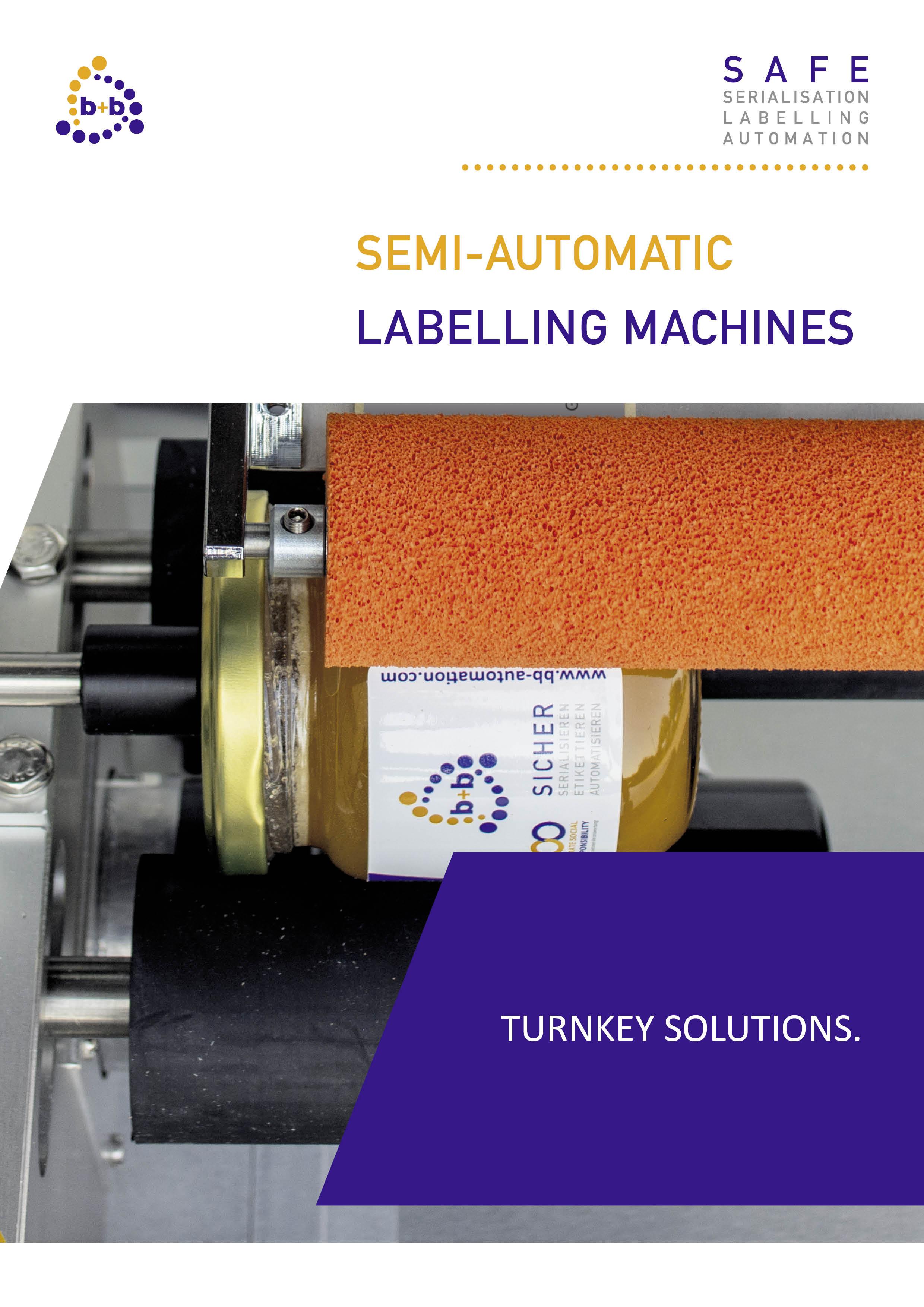 Semi-automatic labelling machines