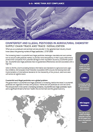 COUNTERFEIT AND ILLEGAL PESTICIDES IN AGRICULTURAL CHEMISTRY