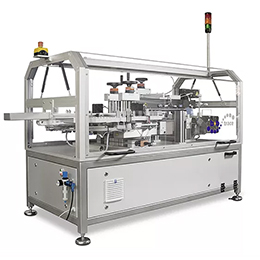 Tamper evident labelling machine
