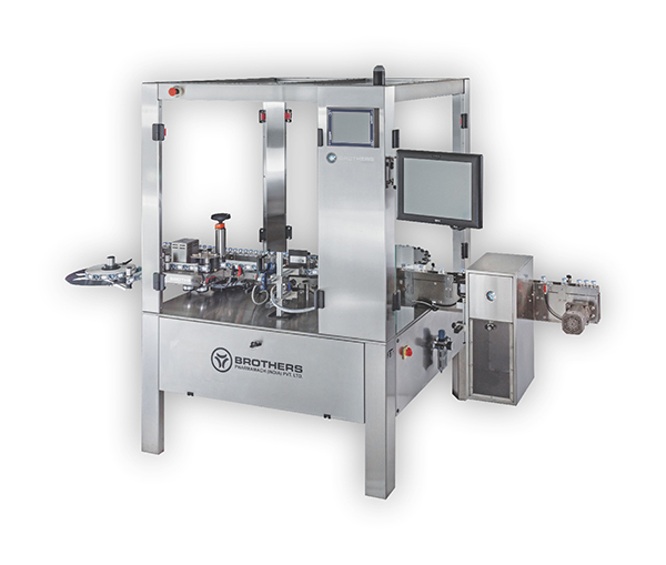 Automatic Linear Sticker Labelling With Rotary Star Wheel System Labelstik-300LR