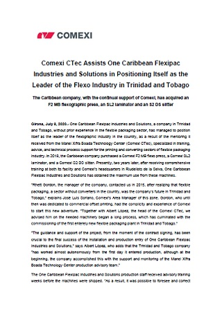 Comexi CTec Assists One Caribbean Flexipac Industries and Solutions