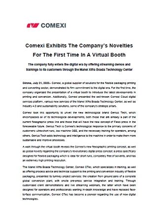 Comexi Exhibits The Company's Novelties For The First Time In A Virtual Booth