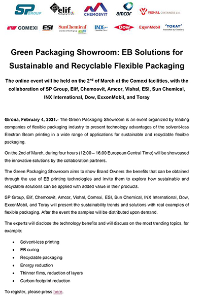EB Solutions for Sustainable and Recyclable Flexible Packaging