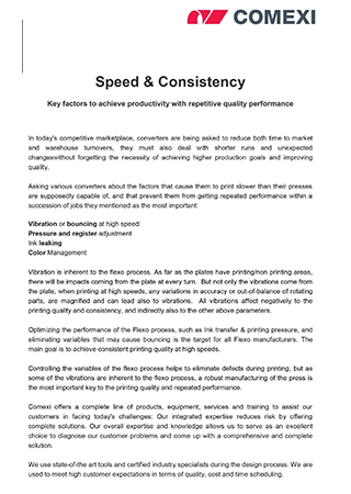 Speed and Consistency