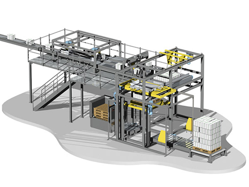 Fully automatic palletising robot