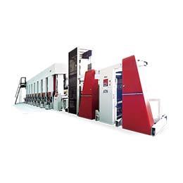 E-Atena Electronic line shaft rotogravure printing line