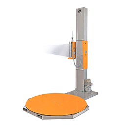 Automatic motorised stretch wrappers