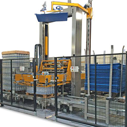 Layer (sweep) palletizers