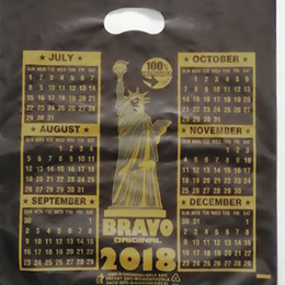 Calendar punched handle bags