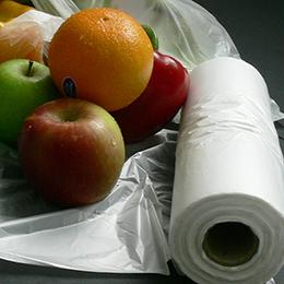 polyethylene produce rolls