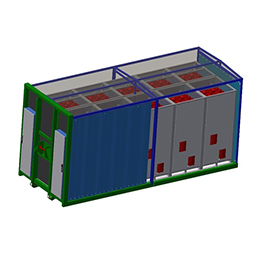 Gas containers for storage and logistics