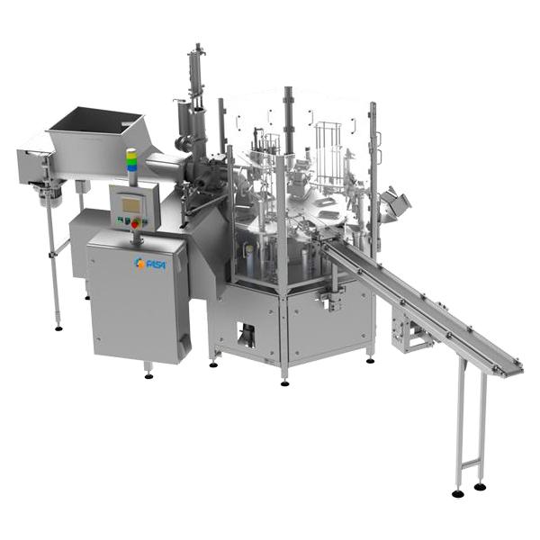 Cup or tub filling and sealing machine - ARI-P