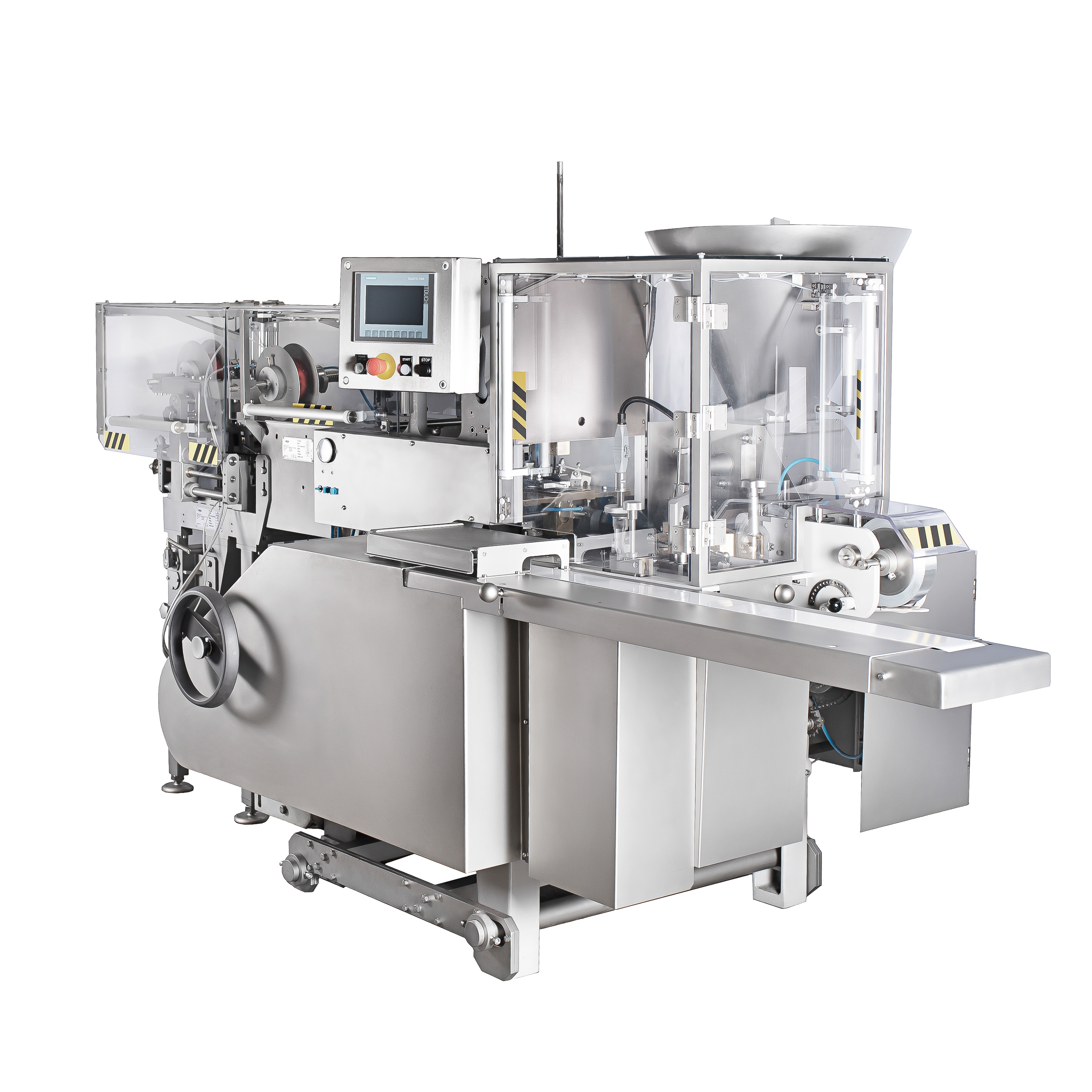 Processed cheese filling and wrapping machine