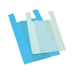 Plain Vest Type Carrier Bags -T-Shirt Bags -Singlet Bags
