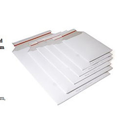 Fullboard mailers, white, uncoated