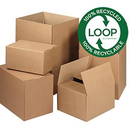 LOOP Eco-Friendly Single Wall Cardboard Boxes   Cartons