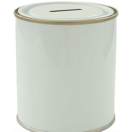 Metal money box tins