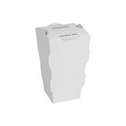Tamper Evident Medium Fry Carton, White, 600 ct.