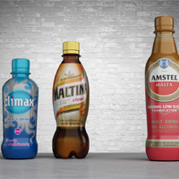New PET packaging for Amstel Malta, Climax and Maltina