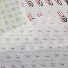 printed and coloured tissue paper