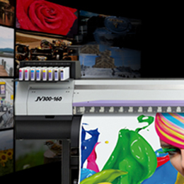 Roll to roll inkjet printer - JV300 Series