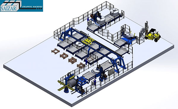 AUTOMATIC PACKAGING LINE FOR SLIT COILS PACKAGES