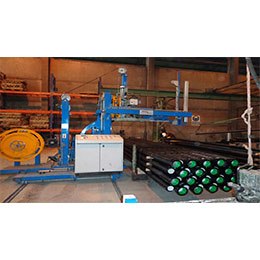 AUTOMATIC STRAPPING MACHINE FOR PIPES