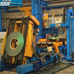 AUTOMATIC STRAPPING MACHINE FOR THE RADIAL STRAPPING OF SLIT COILS