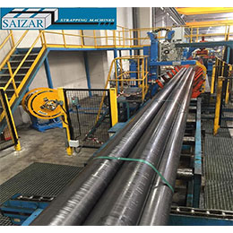 AUTOMATIC TRANSVERSE STRAPPING MACHINE FOR PIPES BUNDLES
