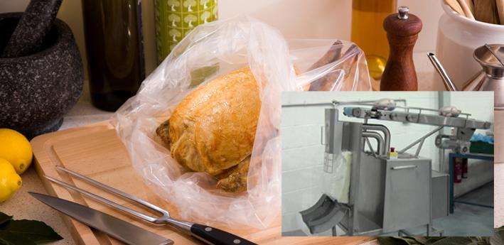 Chicken bagging machine