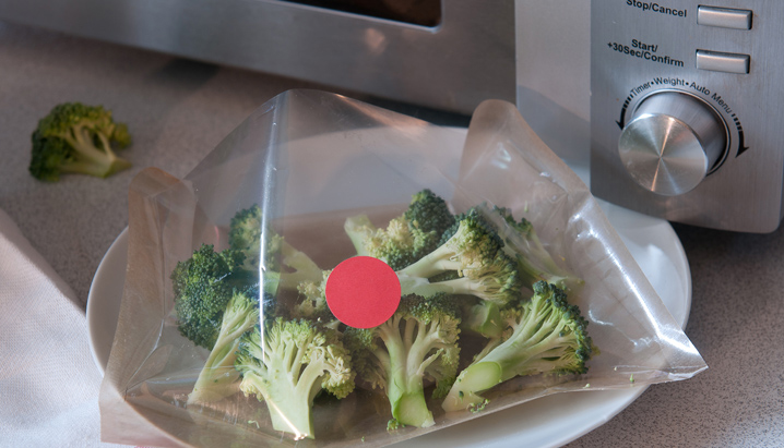 Microwave bag with special vent