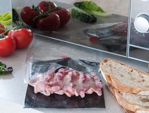 Microwave crispy bacon packs