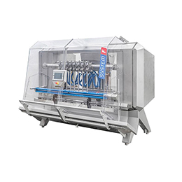 Fully automatic inline liquid filling machine F-1800