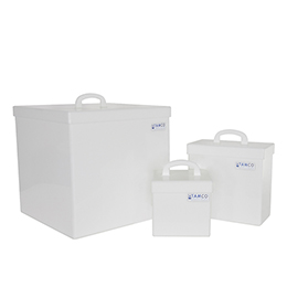Tamco® Fabricated HDPE Rectangular Tanks with Covers