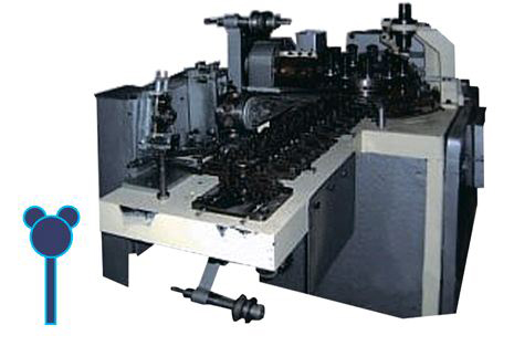 Wrapping machine for lollipop Latini type D