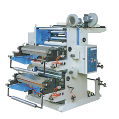 2 color flexographic printing machine