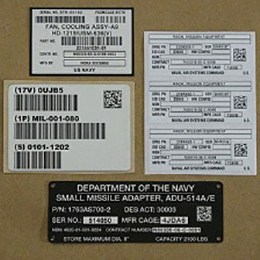 uid labels and plates